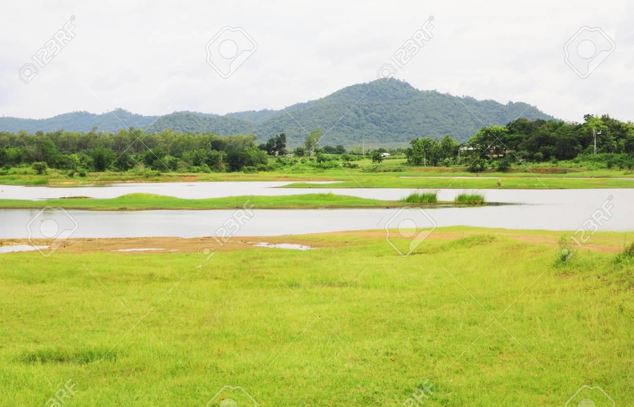 Non urban landscape. river , mountain Stock Photo - 14305187