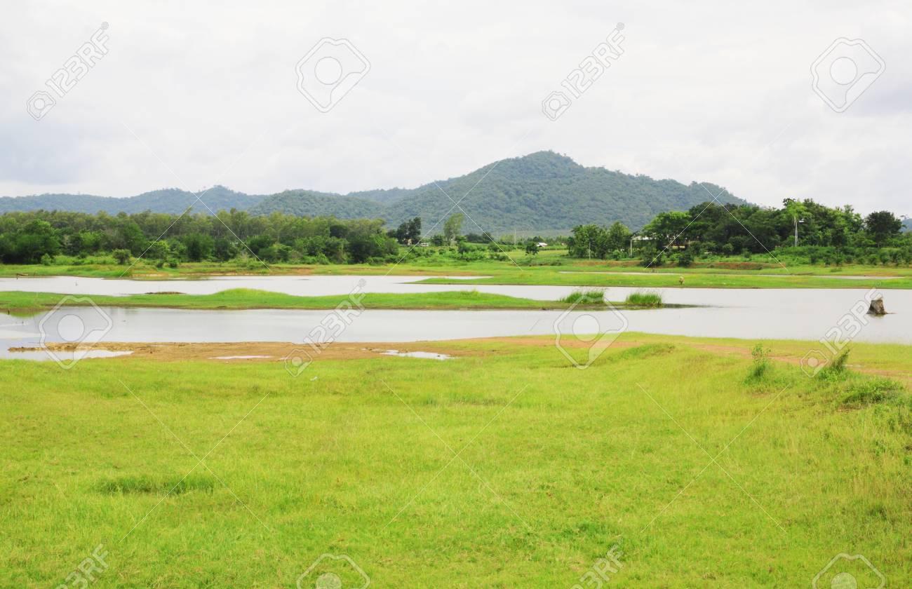 Non urban landscape. river , mountain Stock Photo - 14305191