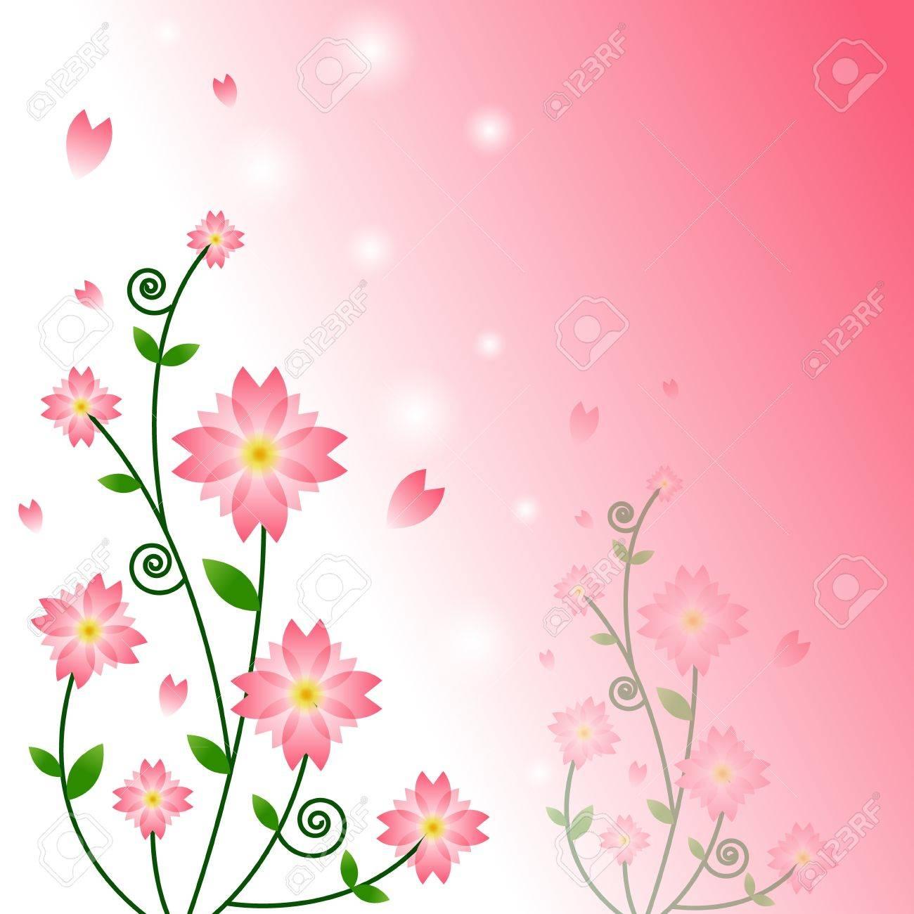 vecteur de fond fleur rose clip art libres de droits , vecteurs et