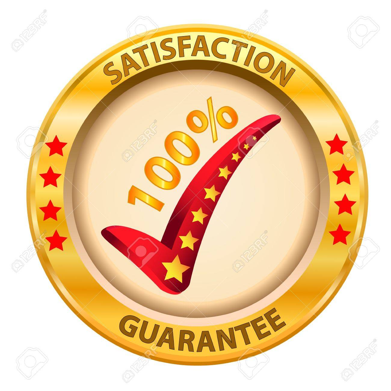 100  Satisfaction Guaranteed logo  Vector illustration Stock Vector - 14996217