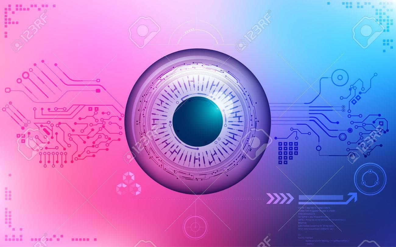 Eye symbol in electronical looks blueprint of an eye abstract eye symbol in electronical looks blueprint of an eye abstract technology abstract technology malvernweather Choice Image