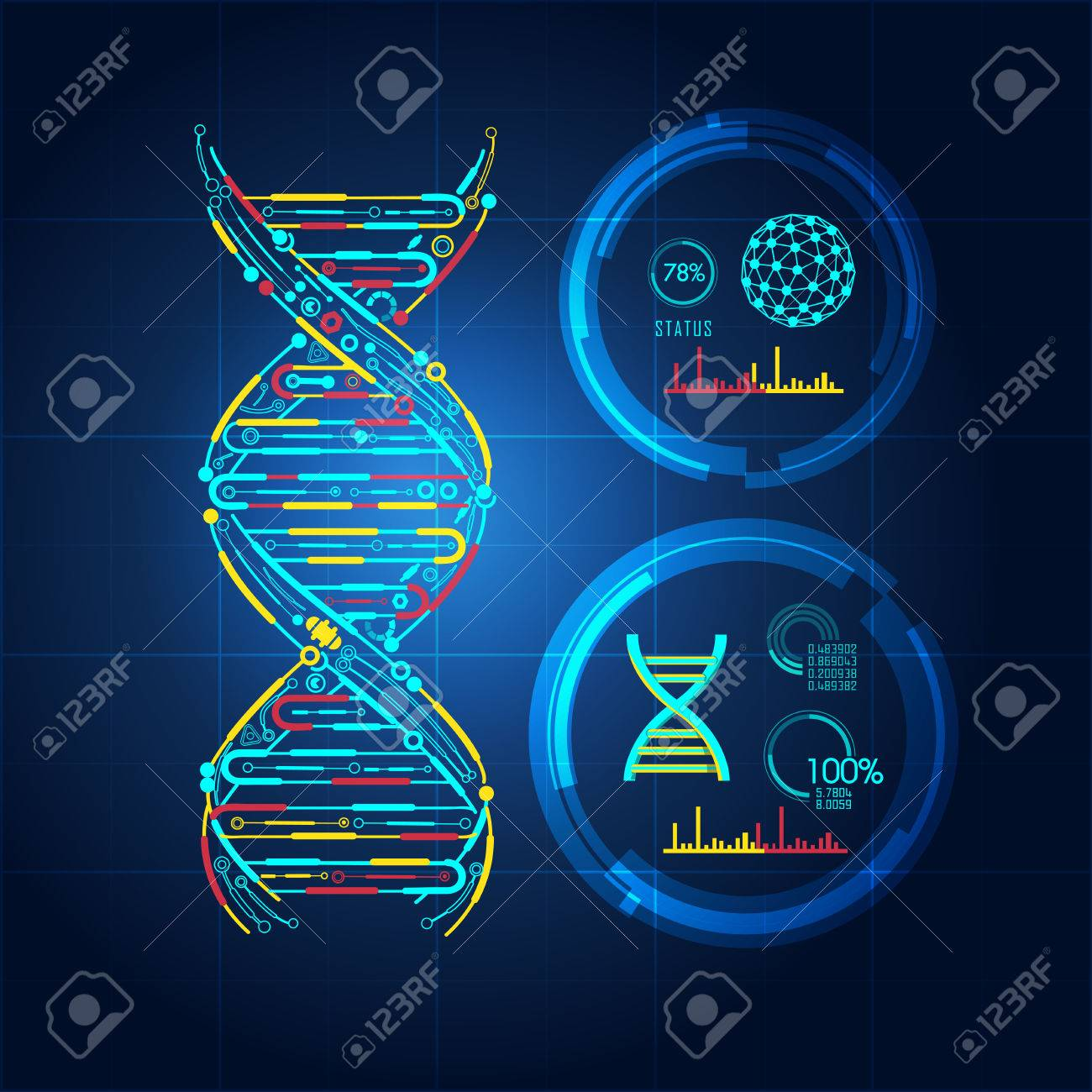 Blueprint of dna dna symbol in technological looks royalty free blueprint of dna dna symbol in technological looks stock vector 76678738 malvernweather Choice Image
