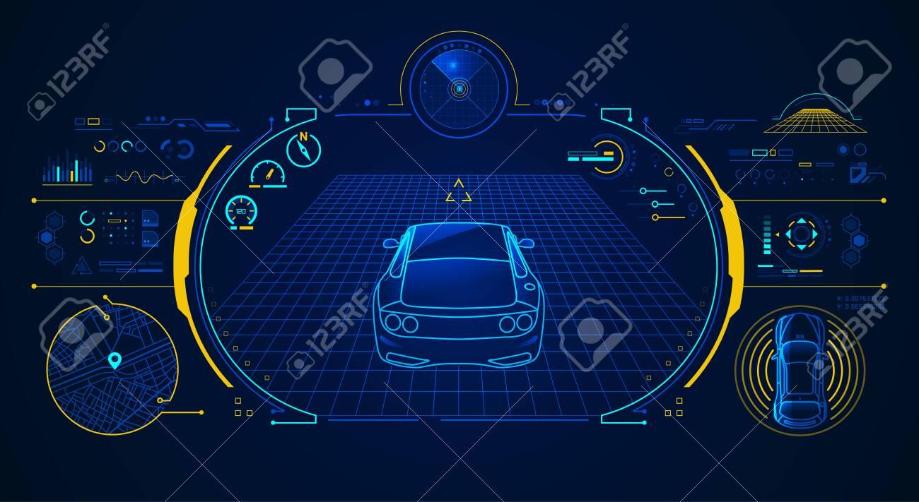 concept of smart car technology - 124024807