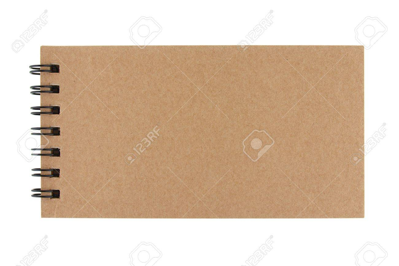 Isolated recycle paper note book on white background Stock Photo - 10015418