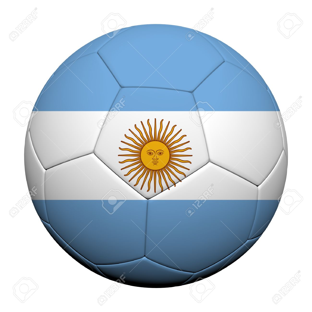 Argentina Flag Pattern 3d rendering of a soccer ball Stock Photo - 14187082 bd39a24a3993