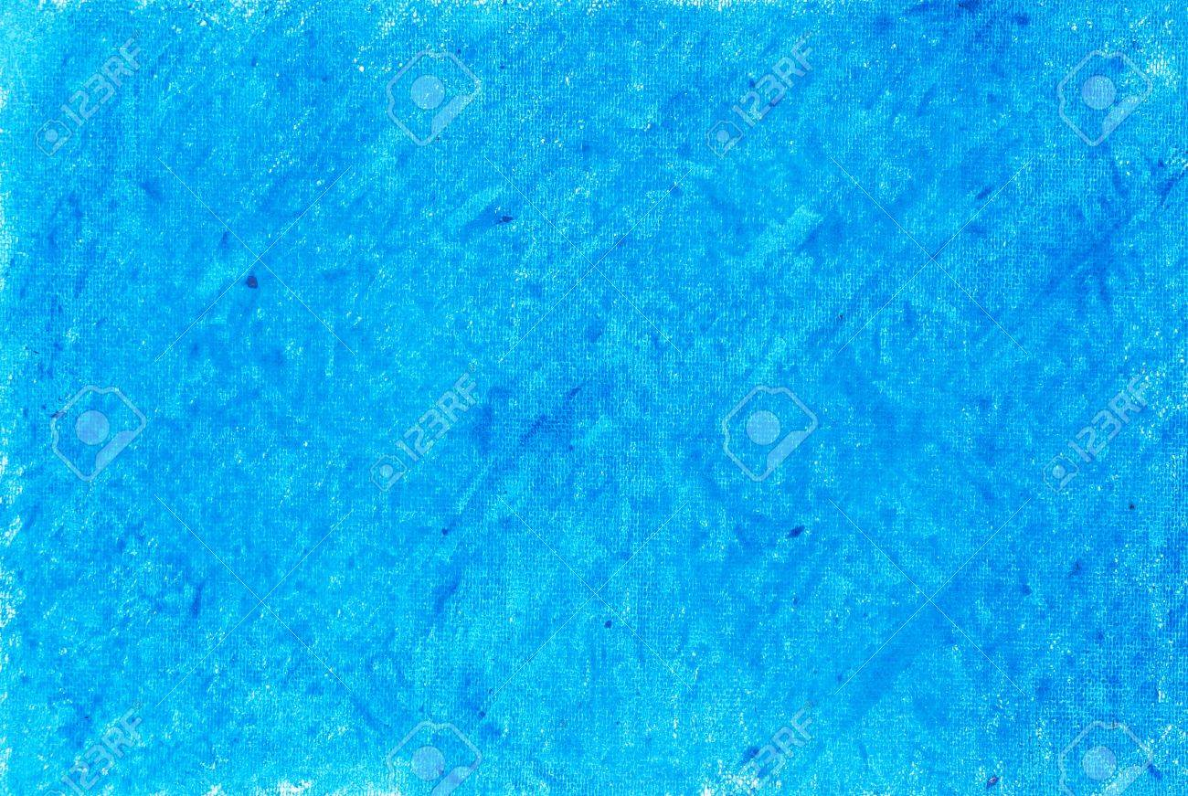 Painted on paper crayon blue  background Stock Photo - 14696700