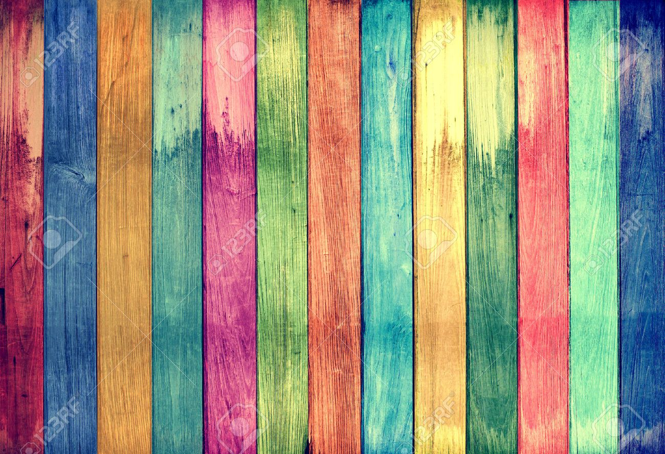 Background image and color - Vintage Colorful Wood Background Stock Photo 33721258
