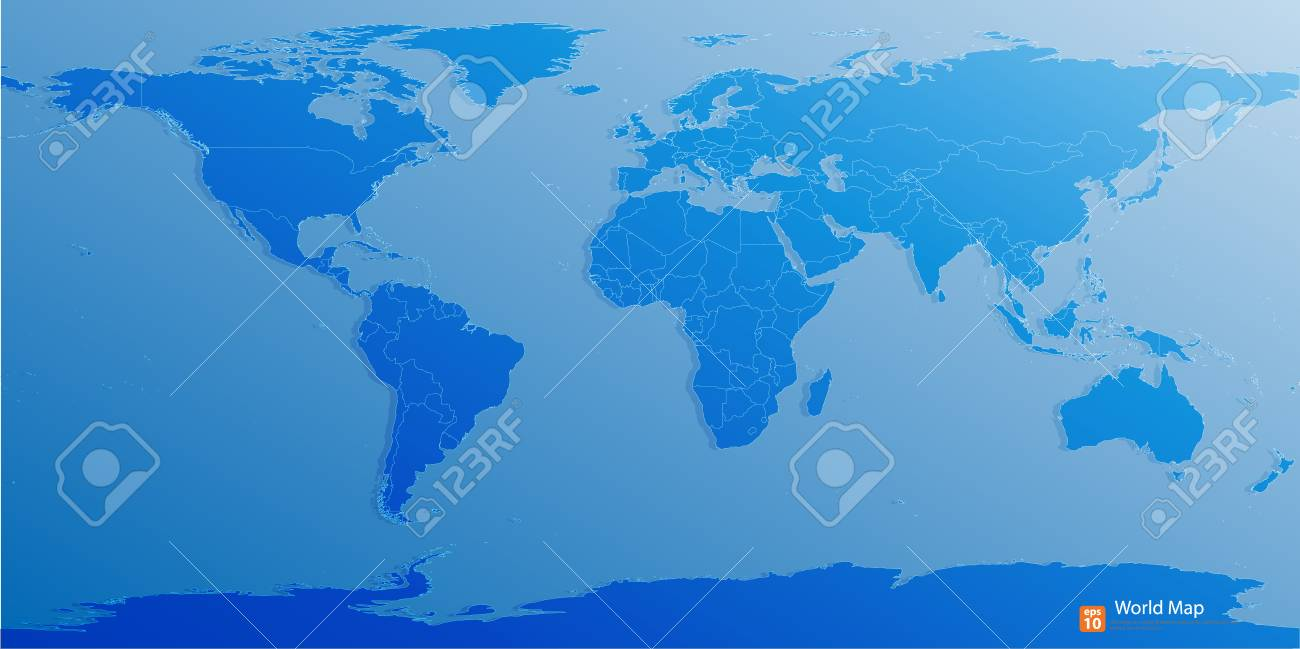 Blue world map vector format royalty free cliparts vectors and blue world map vector format stock vector 33794554 gumiabroncs Gallery