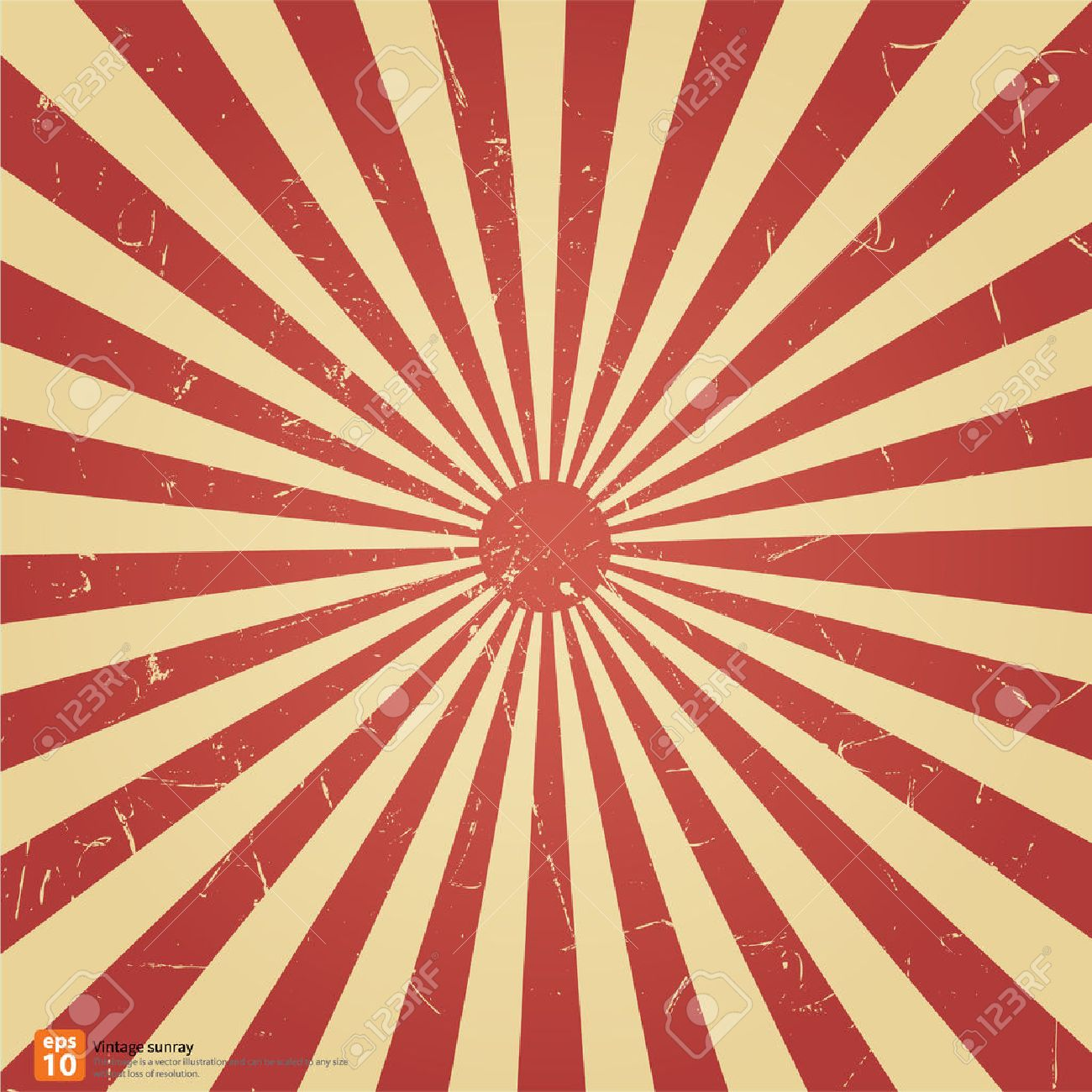 New Vector Vintage Red Rising Sun Or Sun Ray,sun Burst Retro ...