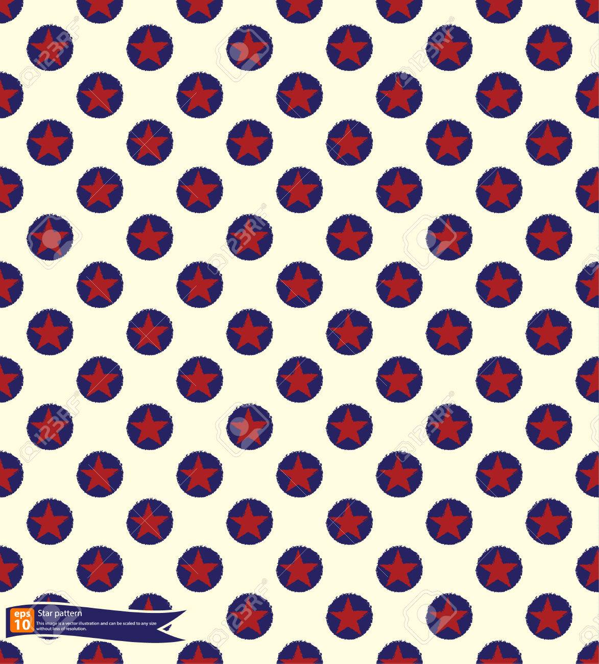 vintage star pattern vector design seamless polka dot pattern