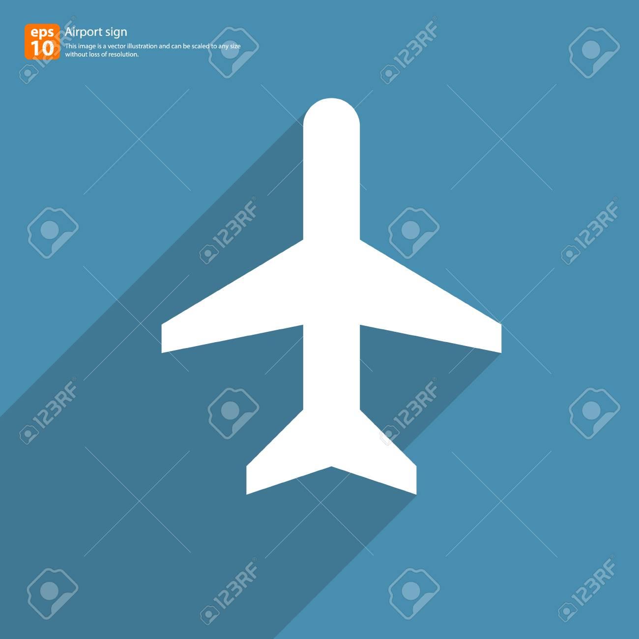 Nueva Señal De Avión De Air Con El Icono De Vector Sombra Diseño ...