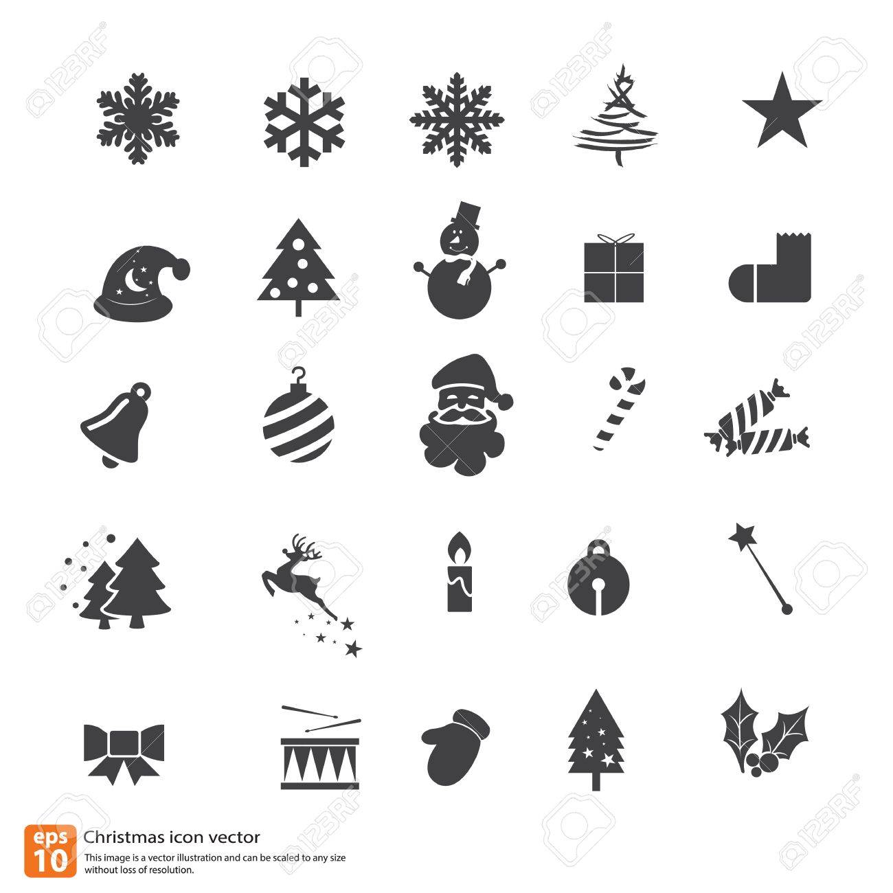 Christmas Icons Vector Design