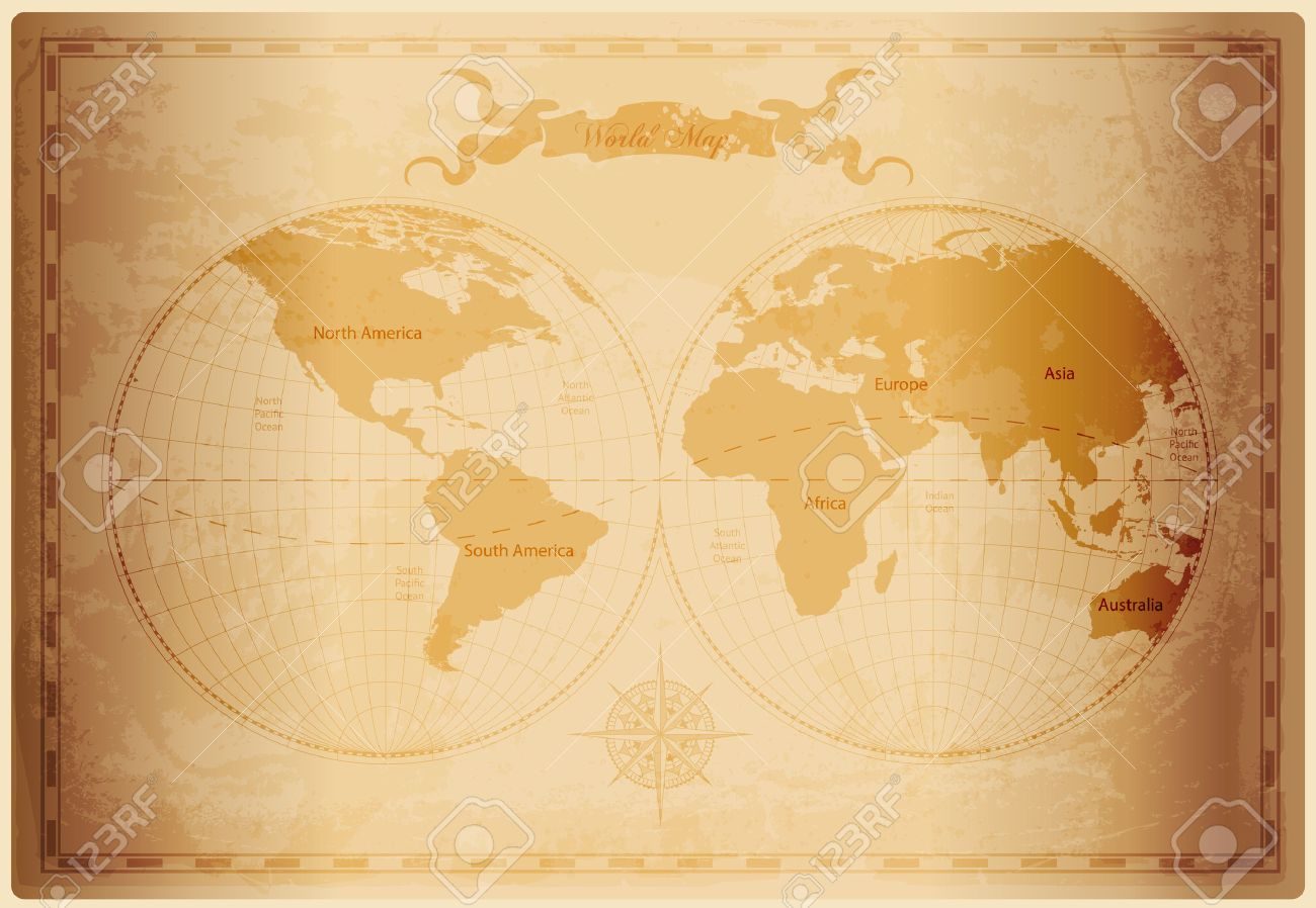 12238 old world map cliparts stock vector and royalty free old old world map with vintage paper texture vector format illustration gumiabroncs Images