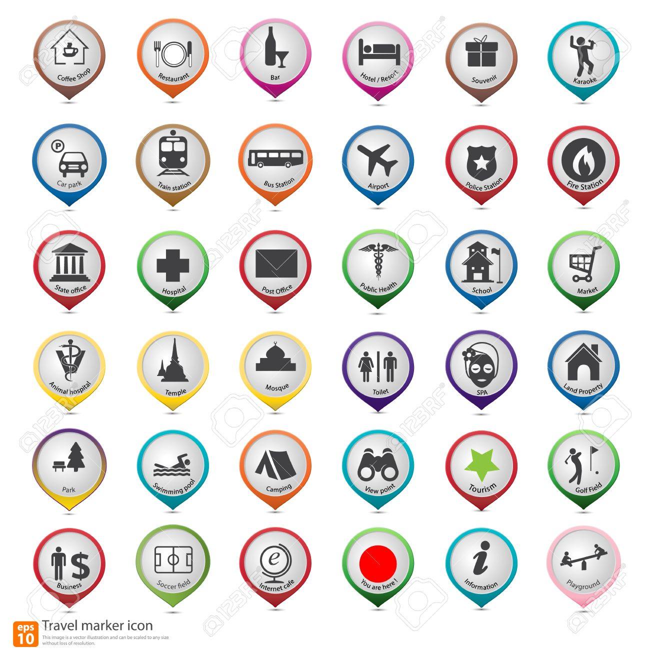 Travel Marker Map Icon Royalty Free Cliparts Vectors And – Travel Marker Map