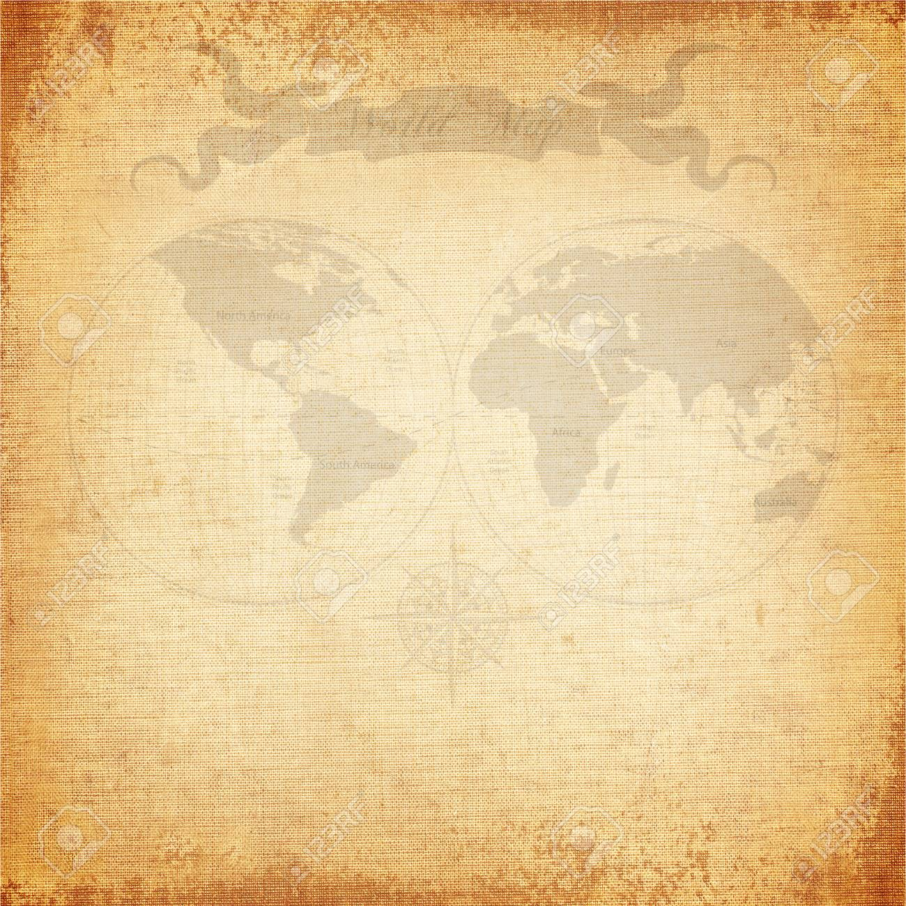 Vintage background old world map with canvas texture stock photo stock photo vintage background old world map with canvas texture gumiabroncs Gallery