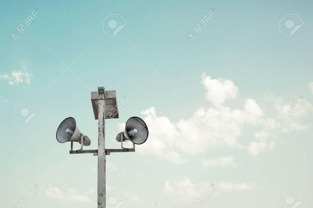 vintage horn speakers Stock Photo - 43296743