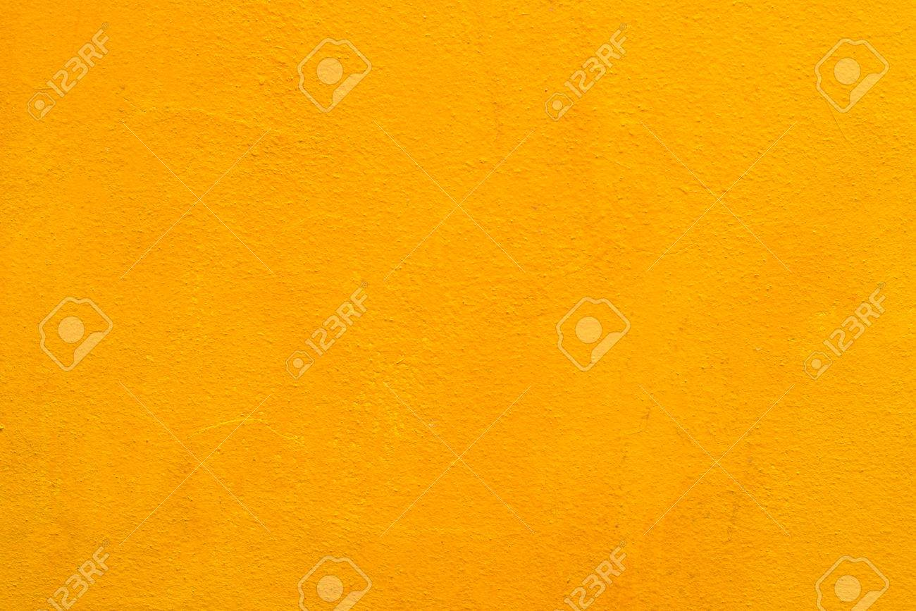 Concrete Wall Old Yellow Color For Texture Background. Stock Photo ...