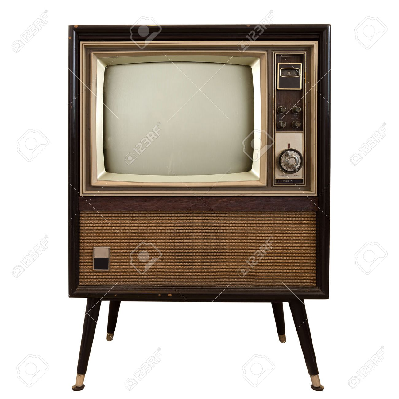 Vintage television - old TV isolate on white ,retro technology - 50570981