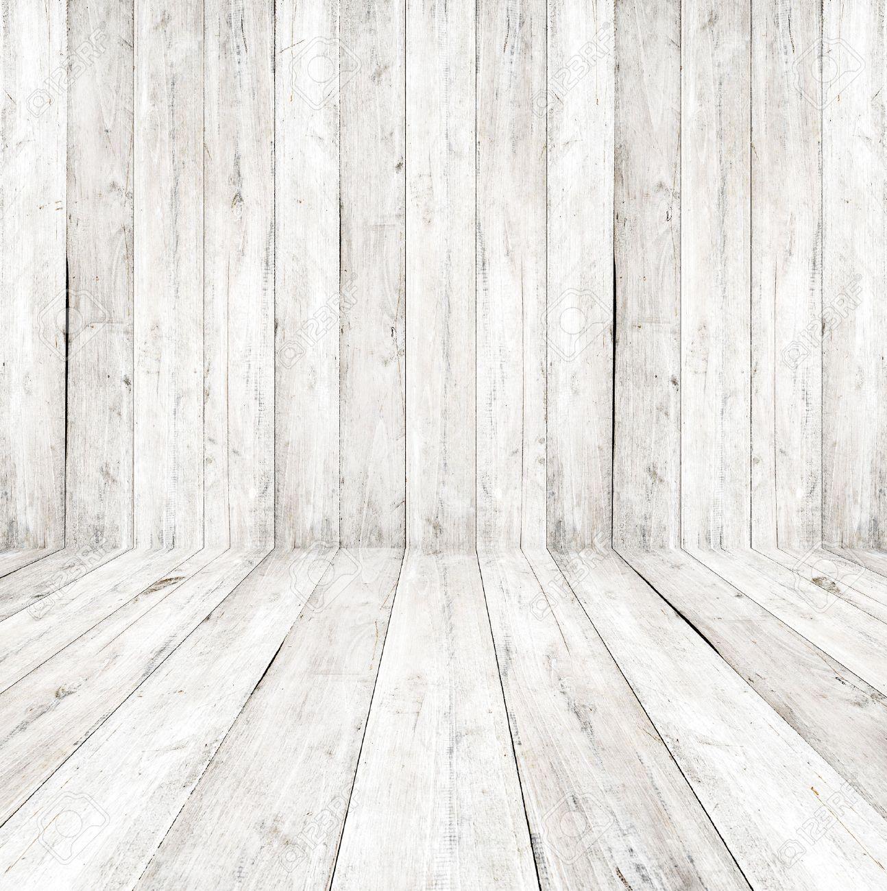 Vider Un Int Rieur Blanc De La Salle Vintage Mur En Bois Gris Et