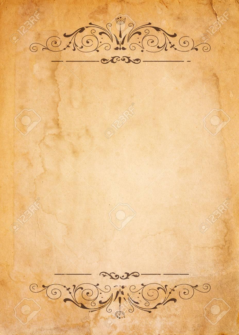 Großzügig Alte Papiervorlage Zeitgenössisch ...