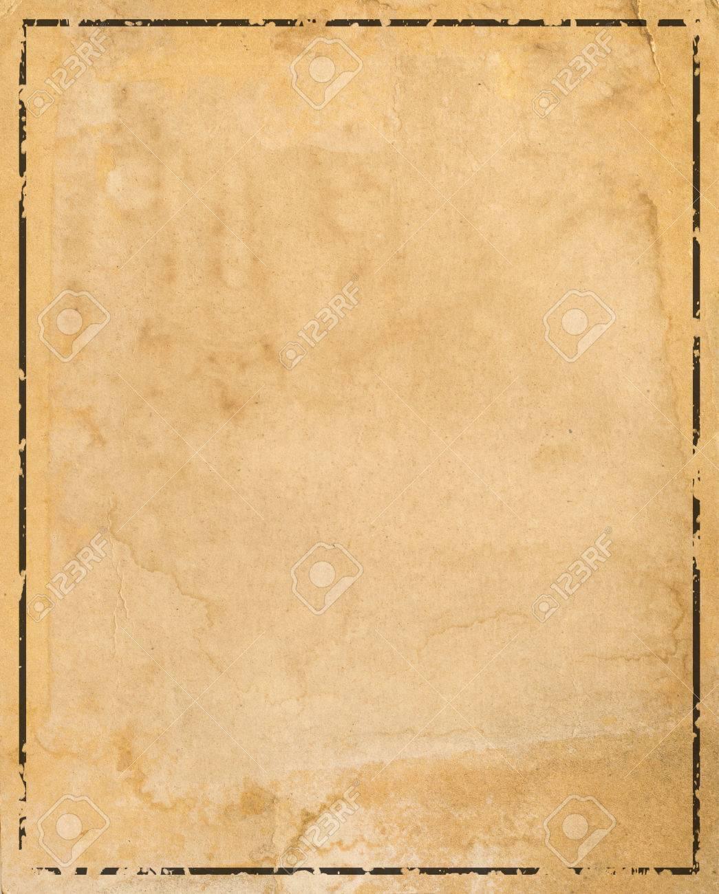 Altes Papier Mit Gemusterten Vintage-Rahmen - Leer Für Ihr Design ...