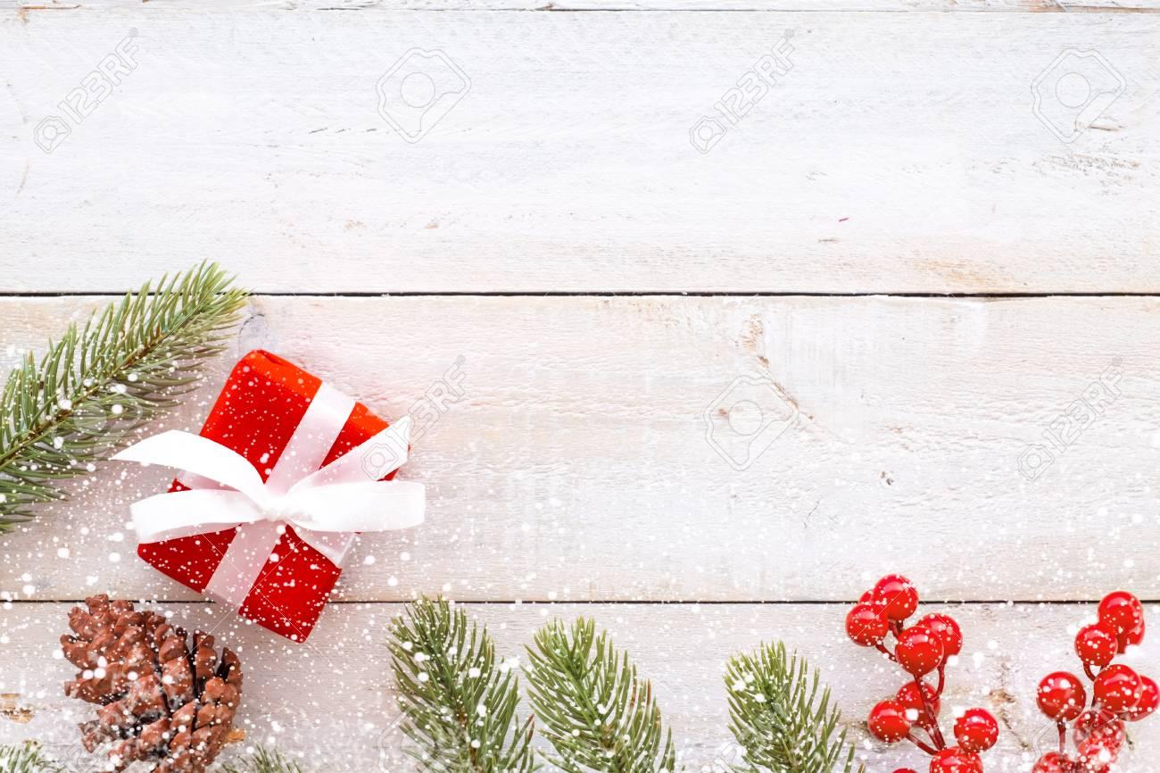 Christmas Present Decoration.Christmas Background Christmas Present Red Gifts Box And Decorating