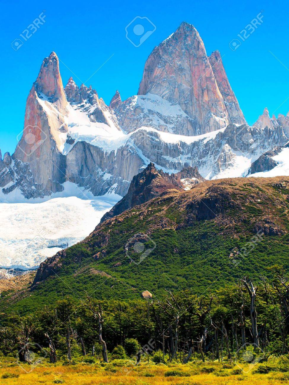 Nature Landscape with Mt. Fitz Roy in Patagonia, Argentina Stock Photo - 11644945