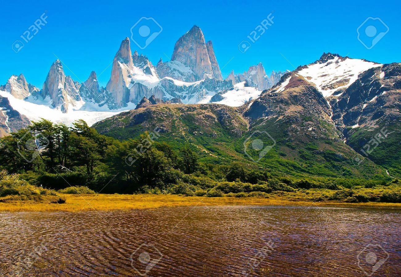 Beautiful Nature Landscape in Los Glaciares National Park, Patagonia, Argentina. Stock Photo - 11695095