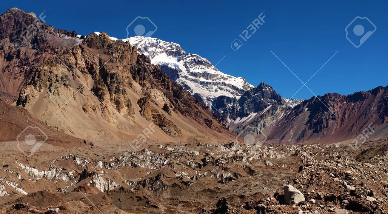 Famous Aconcagua as seen in Aconcagua National Park, Argentina Stock Photo - 11695096