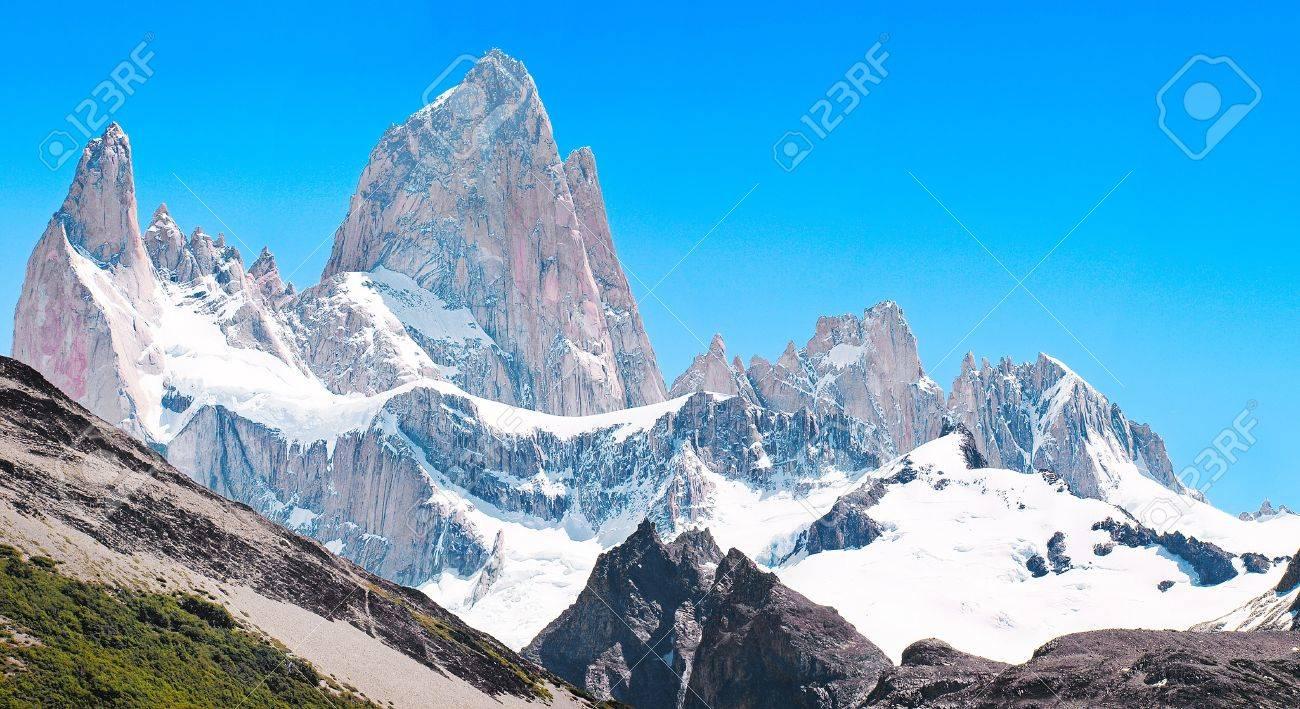 Mt Fitz Roy summit in Los Glaciares National Park, Patagonia, Argentina Stock Photo - 15031608
