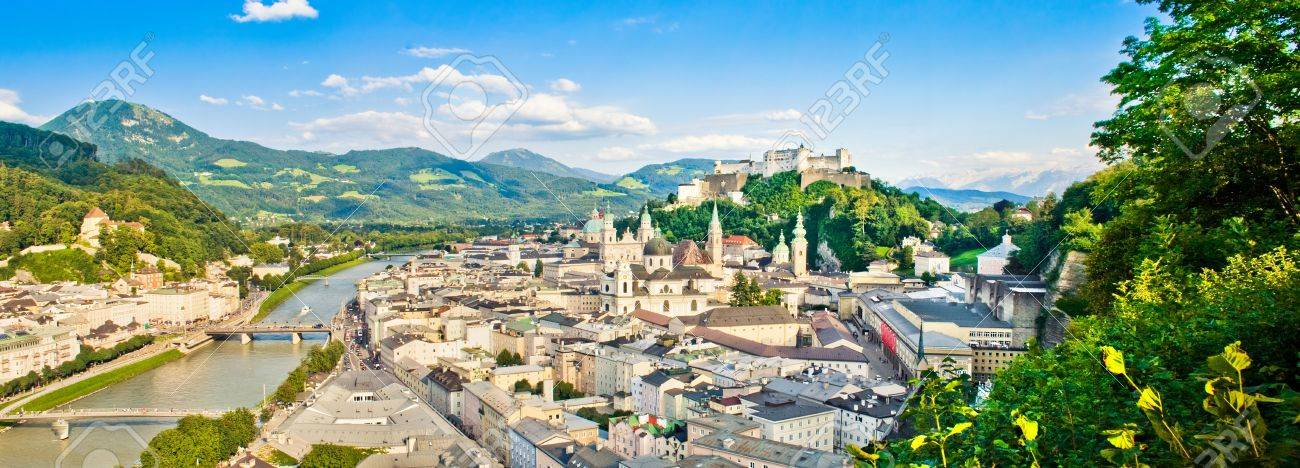 Panoramic view of the city of Salzburg, Austria Stock Photo - 16509482