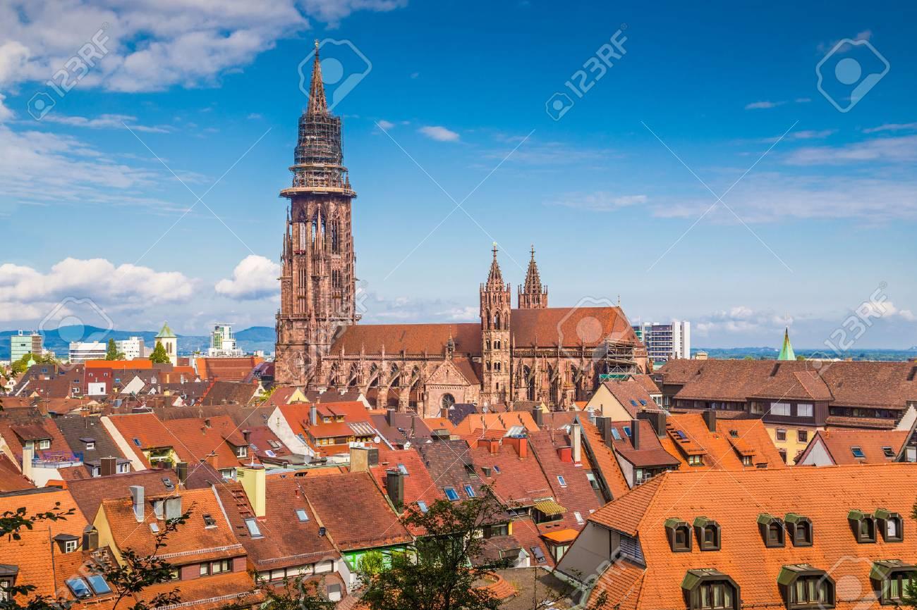 historic town of freiburg im breisgau with famous freiburg minster