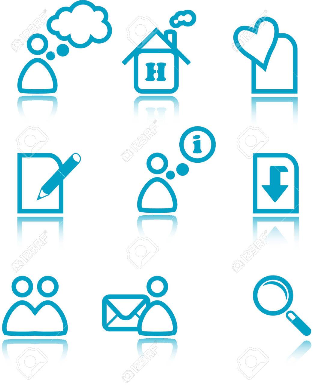 Web icons - simple blue icon set Stock Vector - 825531