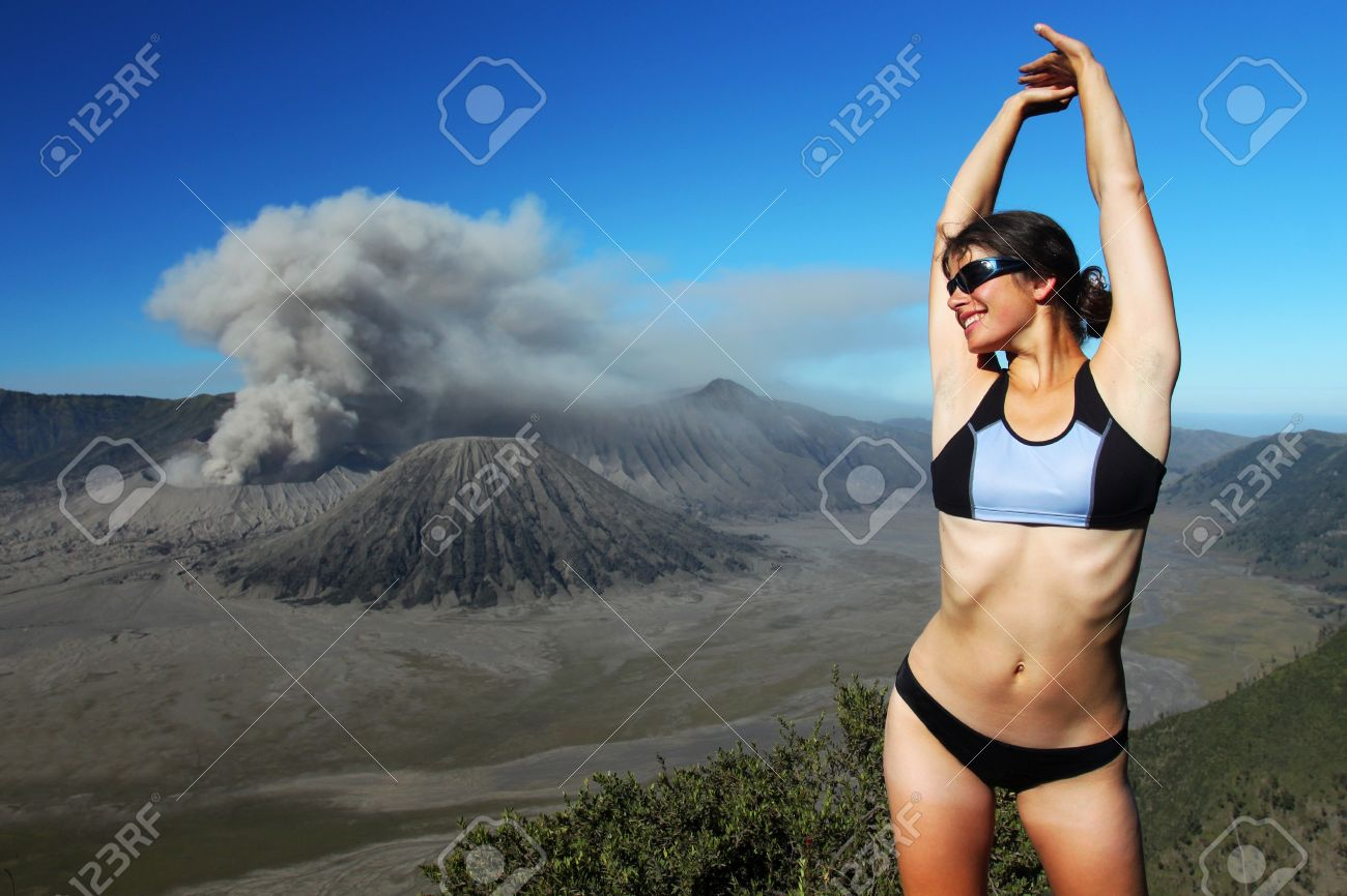 Exotic holiday. Volcano Bromo, Java island, Indonesia Stock Photo - 10423469
