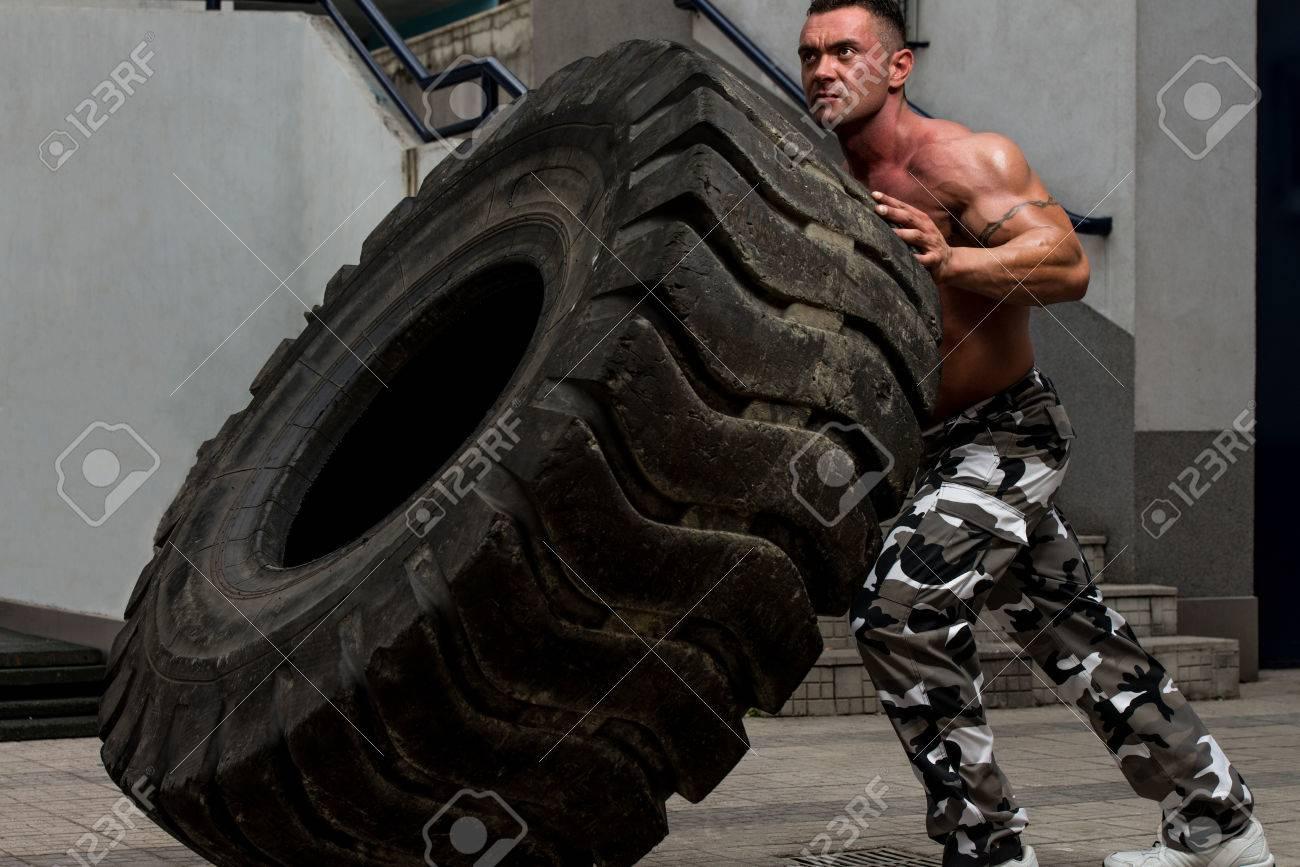 Tire Workout Stock Photo - 22436504