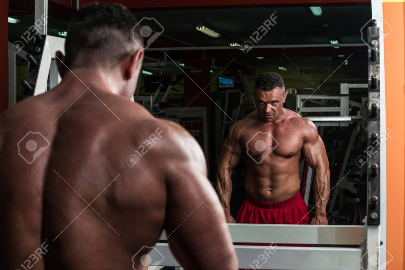 Man Doing Trap Exercises Stock Photo - 22449256