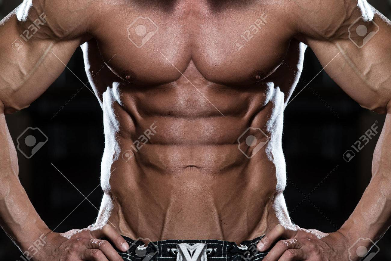 Close Up Of A Perfect Abs Stock Photo - 40021414