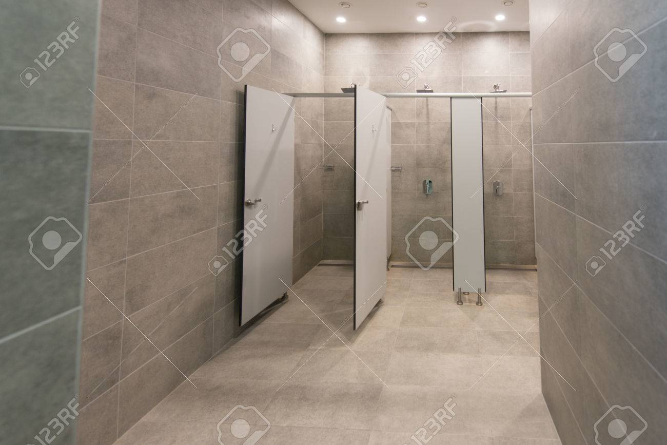 Modern Interior Of A Shower Room In Fitness Center Gym Stock Photo Picture And Royalty Free Image Image 65232003