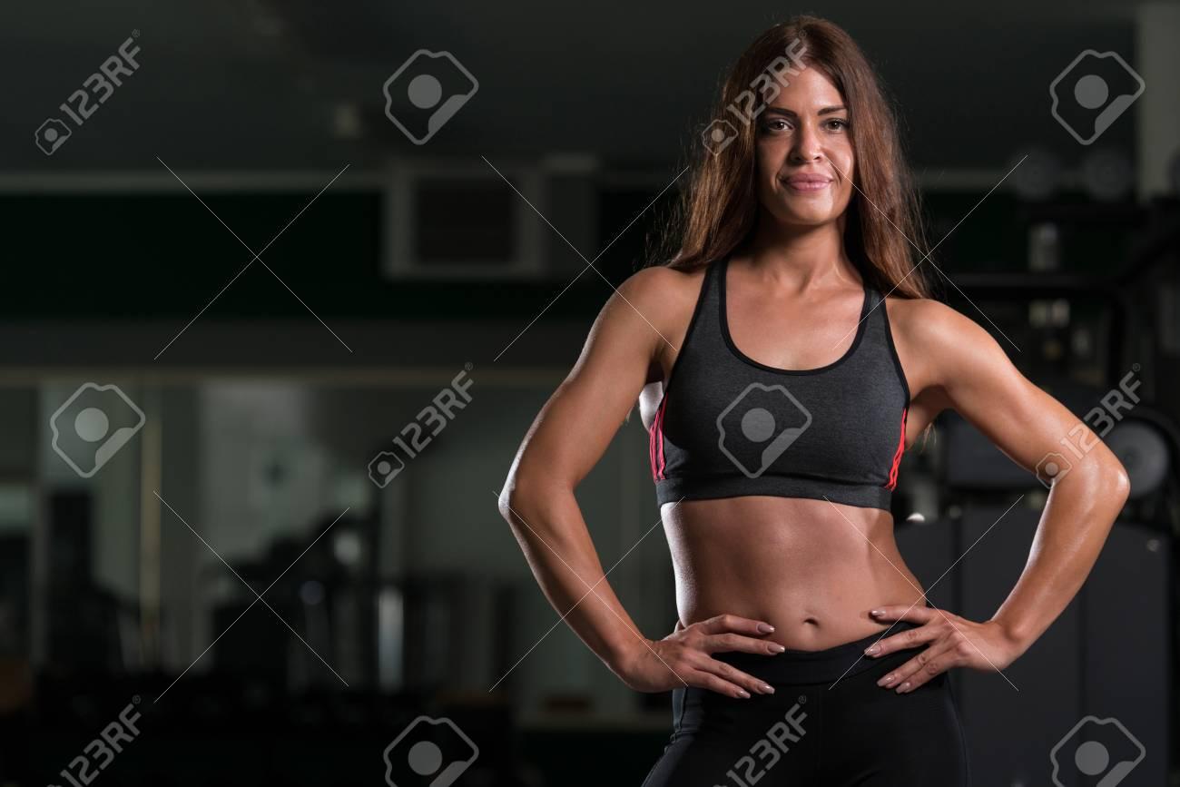 Frau trainierter körper Einen sportlichen