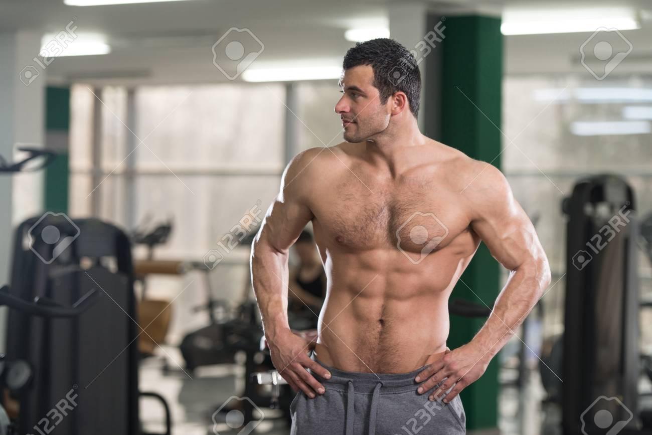 Hairy male bodybuilders