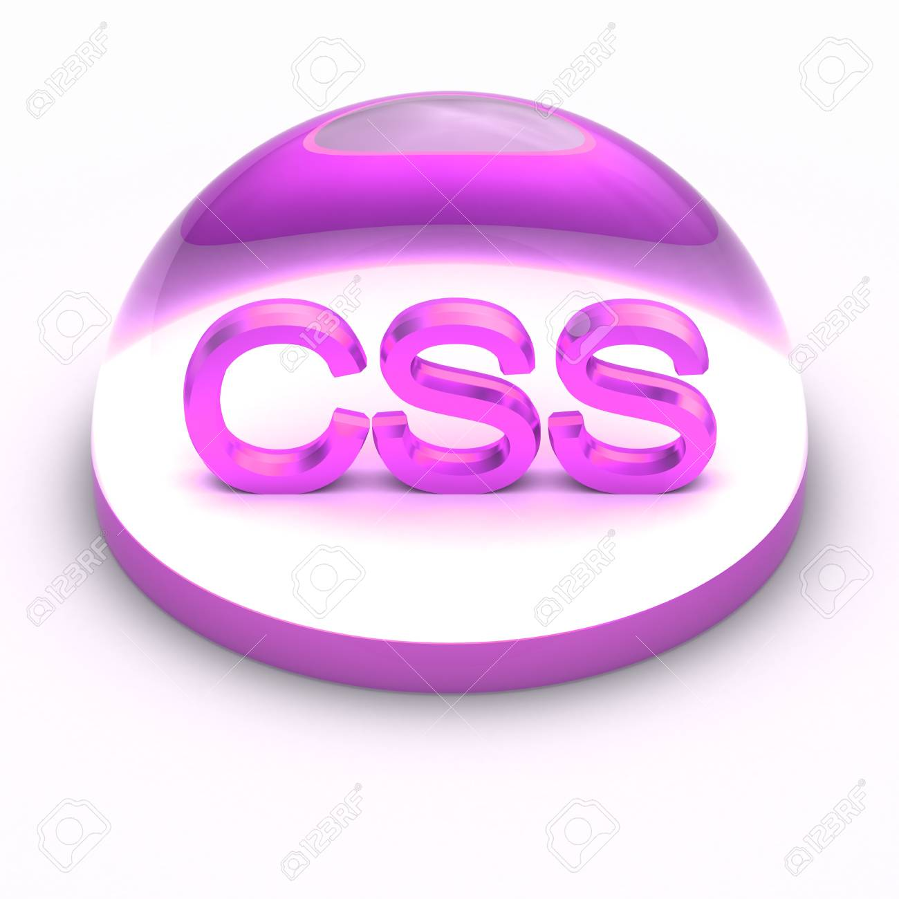 3D Style file format icon over white background - CSS Stock Photo - 12845811