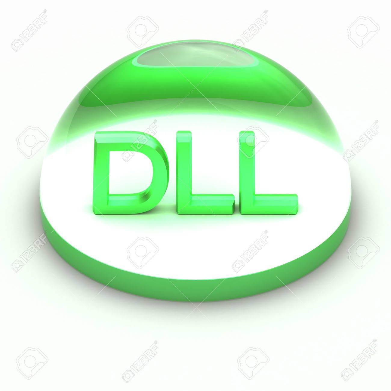 3D Style file format icon over white background - DLL Stock Photo - 12845482