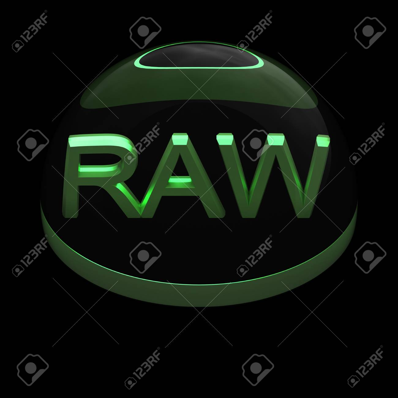 3D Style file format icon over black background - RAW Stock Photo - 12866849