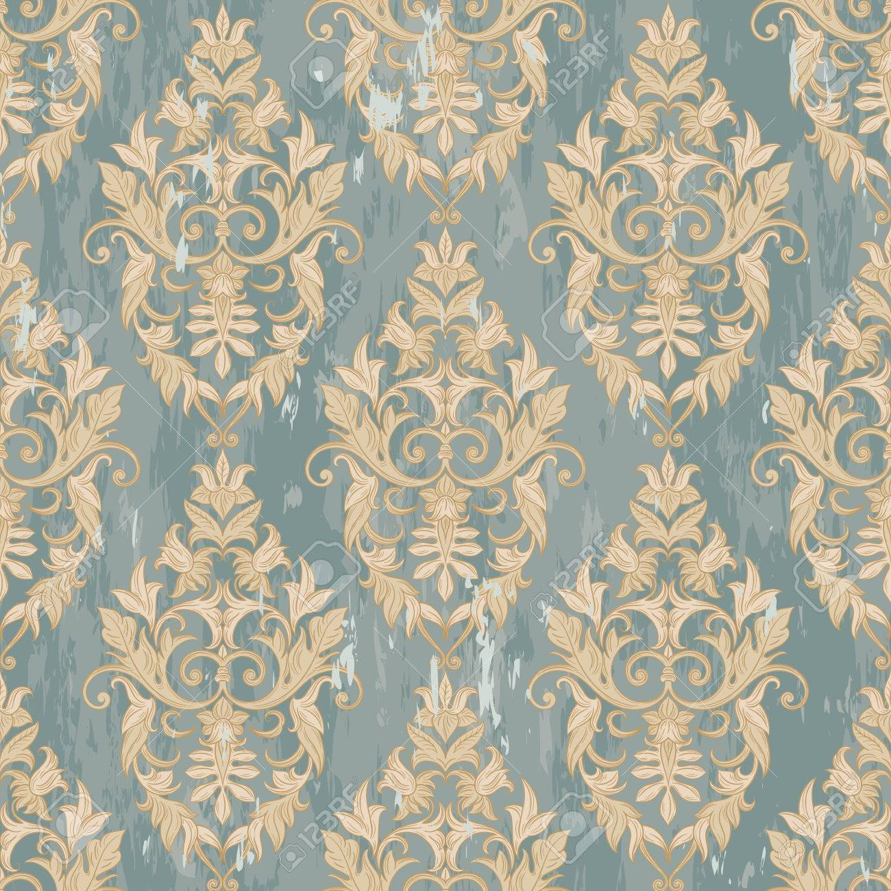 Seamless Decorative Damask Floral Pattern Royal Wallpaper Background Best For Invitations Or Announcements