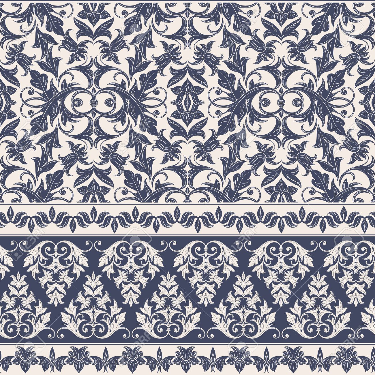seamless decorative damask floral pattern royal wallpaper floral background best for invitations or announcements - Decorative Wallpaper