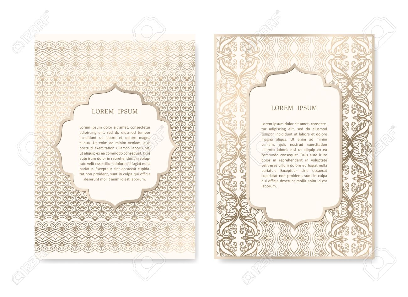 Luxury Gold Invitation Card Set In Islamic Style Greeting Card