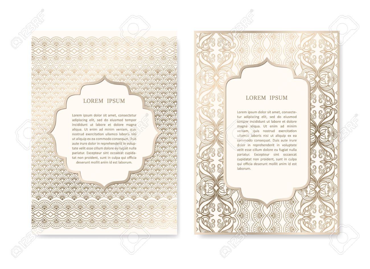 Luxusgoldeinladungskarte In Islamischen Stil Grusskarten Plakate