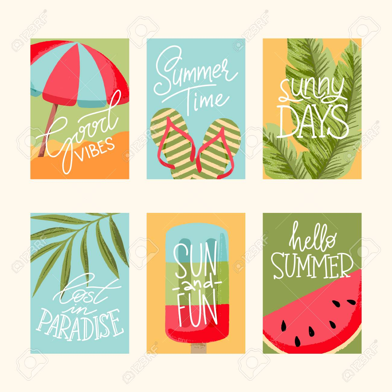 Vector summer cards collection elements with quotes greeting vector summer cards collection elements with quotes greeting cards sale badges scrapbook m4hsunfo