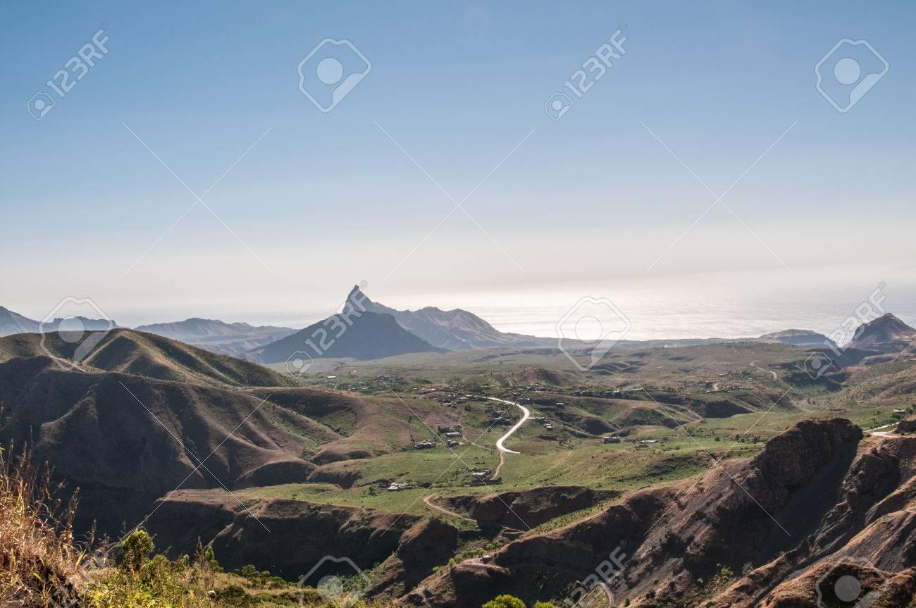 Landscape of the island of Santiago in Cape Verde - 36474283