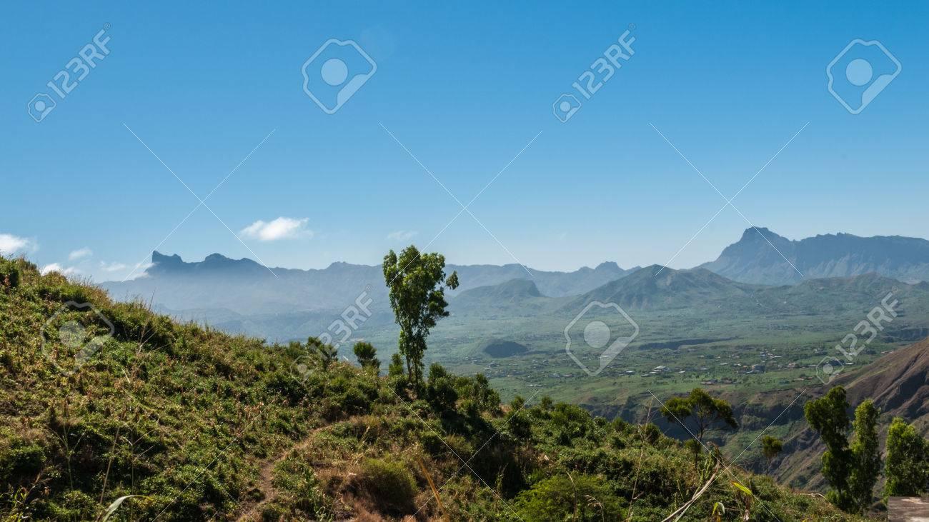 Landscape of the island of Santiago in Cape Verde - 36474284